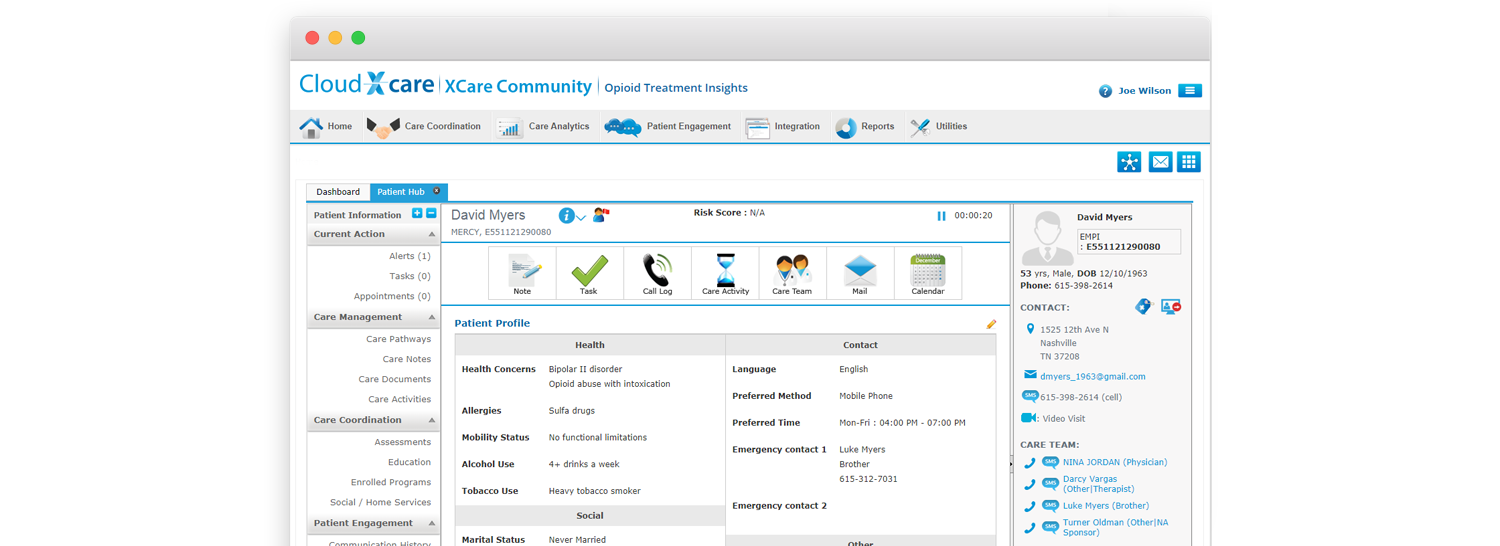 Opioid Care Management Software